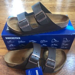 Birkenstock Arizona dark brown Birko floor new